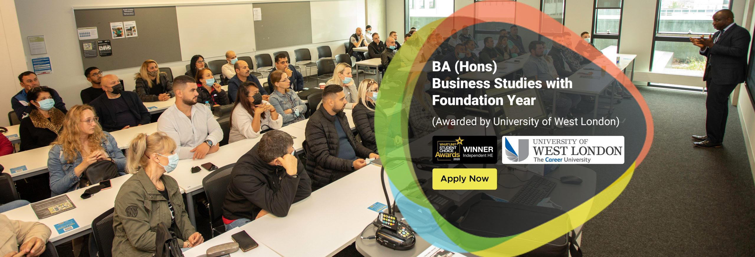 BA (Hons) Business Studies with Foundation Year (Awarded by University of West London)
